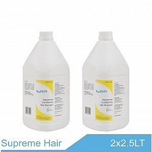 NuFeel Supreme Hair Conditioning Hair Shampoo 2 x 2.5 bottles