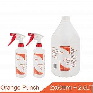 orange punch Air Freshener 2x500ml + 2.5LT